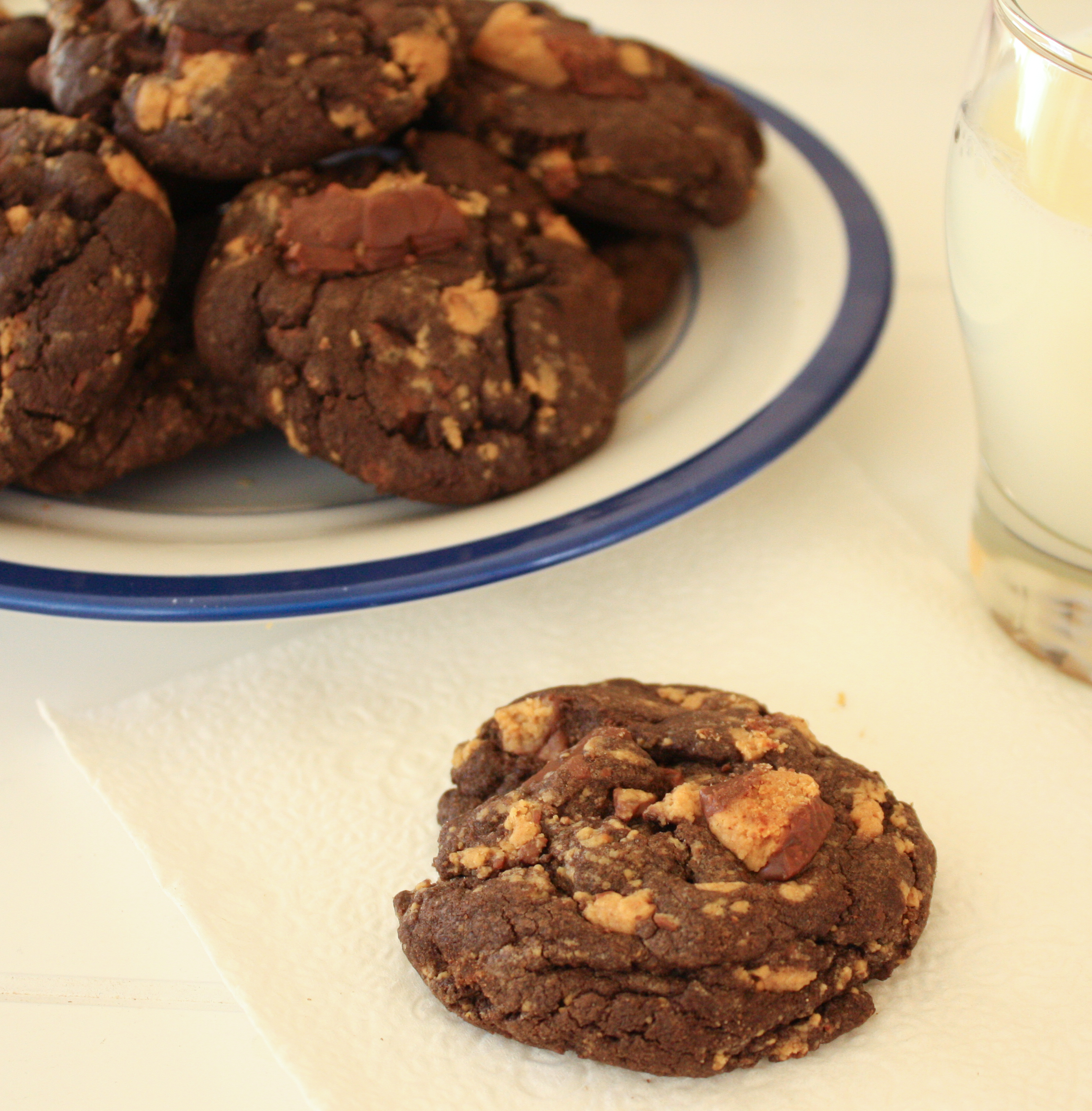 Chocolate Peanut Butter Cup Cookies | annie's cooking lab