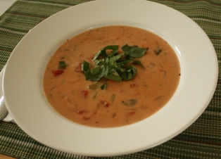 Tomato Basil Soup ~ Annie's Cooking Lab
