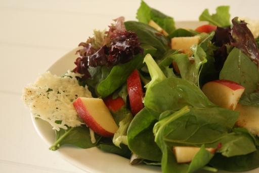 Apple, Parmesan, And Mixed Green Salad With Mustard Vinaigrette ...