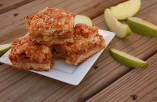 Caramel Apple Crumb Bars ~ Annie's Cooking Lab