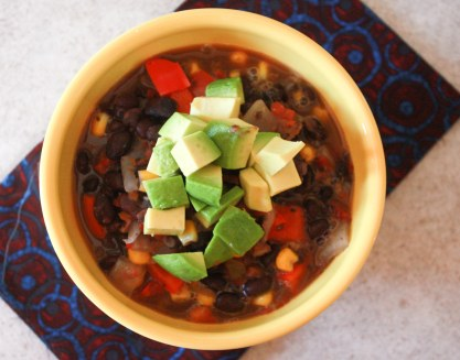 Black Bean Chili ~ Annie's Cooking Lab