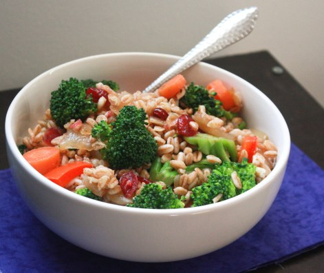 Fresh Vegetable Farro ~ Annie's Cooking Lab