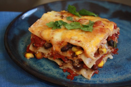 Mexican Lasagna ~ Annie's Cooking Lab