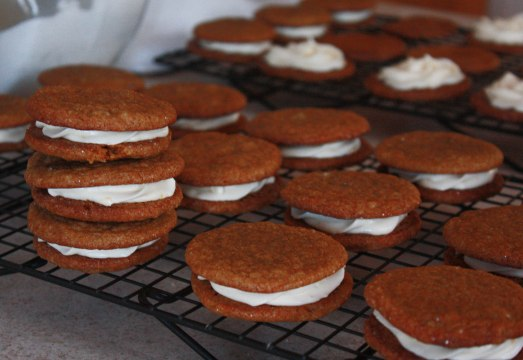 Ginger Spice Cookies with Cream Cheese Filling ~ Annie's Cooking Lab