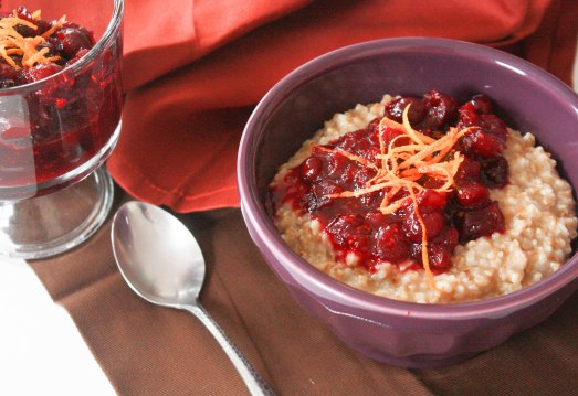 Cranberry Orange Sauce for Oatmeal ~ Annie's Cooking Lab