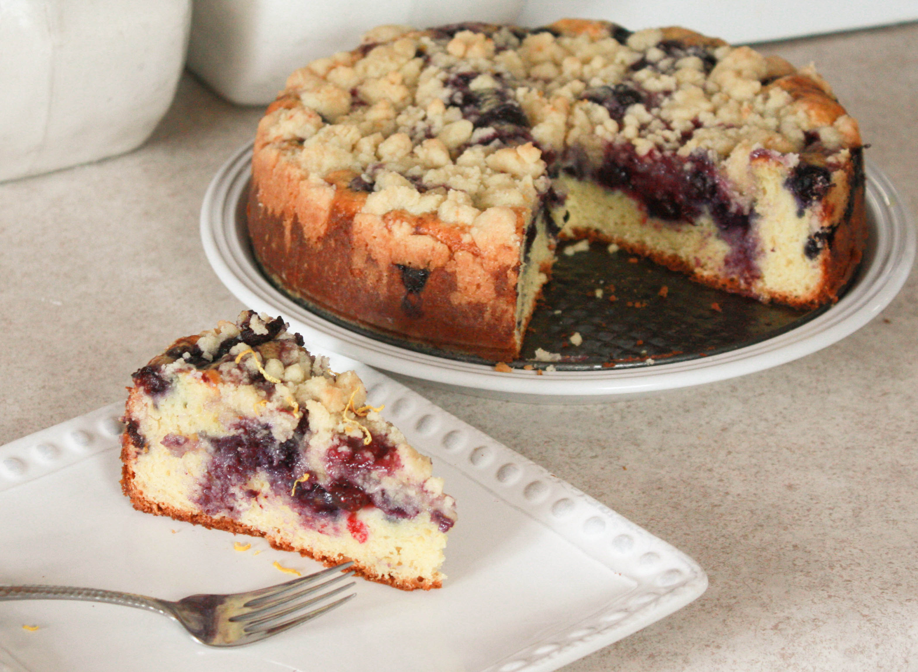 Blueberry Sour Cream Coffee Cake | annie's cooking lab