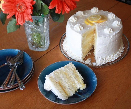 Six Layer Lemon Cake ~ Annie's Cooking Lab